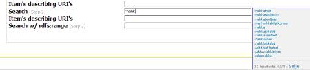 Kuva 4. ONKI-palvelimen semanttinen tekstintäydennyspalvelu kytkettynä luettelointijärjestelmään.