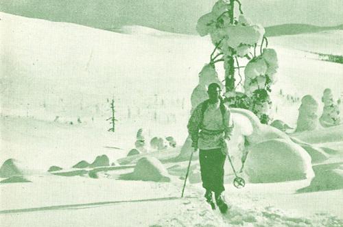 Turiststationer vintern 1938 (yksityiskohta) / Suomen Matkailijayhdistys, http://urn.fi/URN:NBN:fi-fd2011-pp00000706