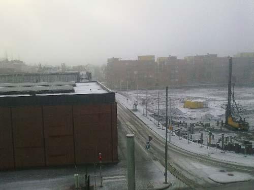Talvipäivä Vallilassa. (Kuva: Lassi Lager)
