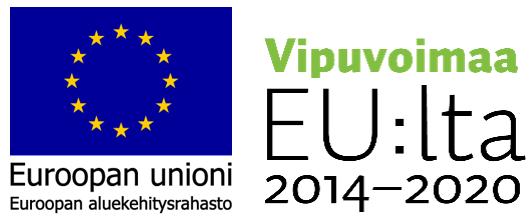 EU:n aluekehitysrahaston logo