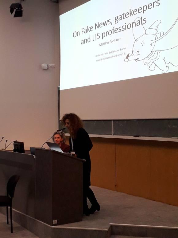 Kuva Matilde Fontaninin keynote-puheenvuorosta