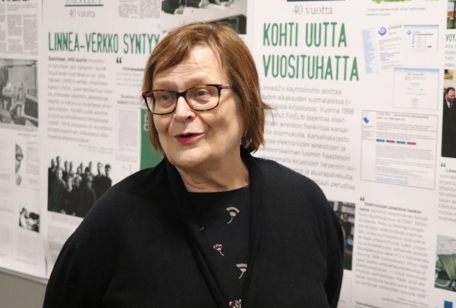 Kuvassa Eeva-Liisa Aalto.