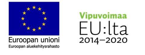 Euroopan unionin aluekehitysrahaston ja Vipuvoimaa EU:lta -hankkeen logot.